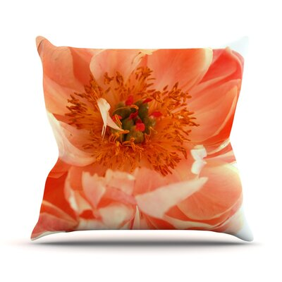 Blushing Peony by Pellerina Design Throw Pillow Size: 26 H x 26 W x 1 D