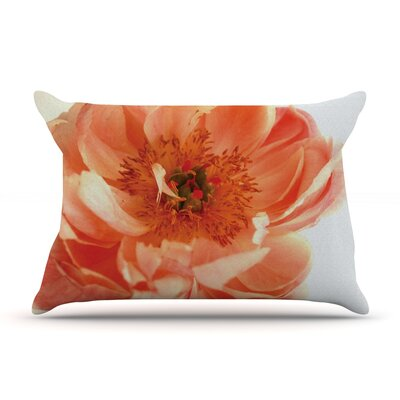 Pellerina Design Blushing Peony Coral Pillow Case