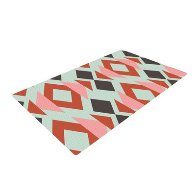 Pellerina Design Coral Mint Triangle Weave Orange/Teal Area Rug