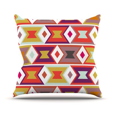 Aztec Weave by Pellerina Design Throw Pillow Size: 16 H x 16 W x 1 D