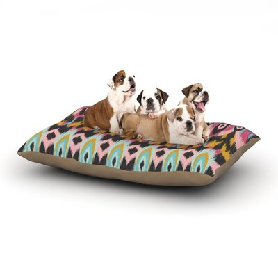 Amanda Lane Bohotribal Dog Pillow with Fleece Cozy Top Size: Small (40 W x 30 D x 8 H)