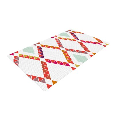 Pellerina Design Aztec Diamonds Geometric Orange Area Rug