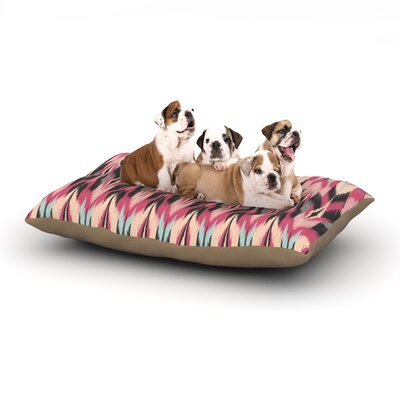 Amanda Lane Dreamhaze Tribal Dog Pillow with Fleece Cozy Top Size: Large (50 W x 40 D x 8 H)