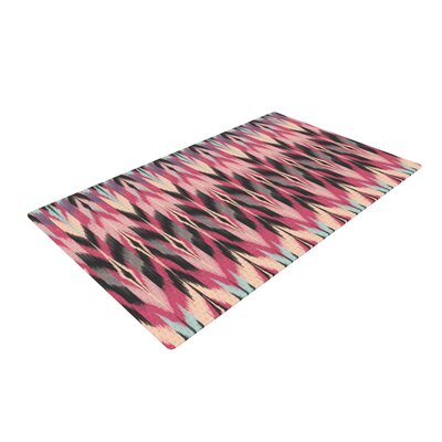 Amanda Lane Dreamhaze Tribal Pink/Black Area Rug Rug Size: 4 x 6