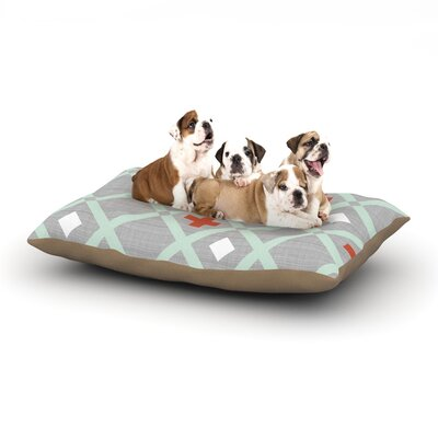 Pellerina Design Mint Lattice Weave Dog Pillow with Fleece Cozy Top Size: Large (50 W x 40 D x 8 H)
