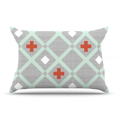 Mint Lattice Weave by Pellerina Design Featherweight Pillow Sham Size: Queen, Fabric: Woven Polyester