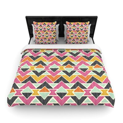 Sequoyah Arrows Light by Amanda Lane Featherweight Duvet Cover Size: Full/Queen, Fabric: Woven Polyester