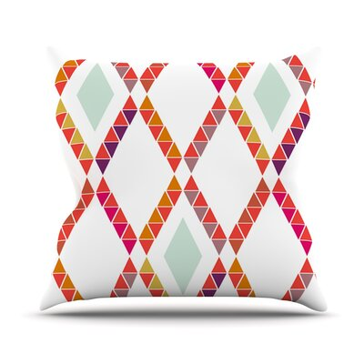 Aztec Diamonds Geometric Outdoor Throw Pillow Size: 16 H x 16 W x 3 D