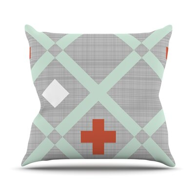 Mint Lattice Weave by Pellerina Design Throw Pillow Size: 26 H x 26 W x 1 D