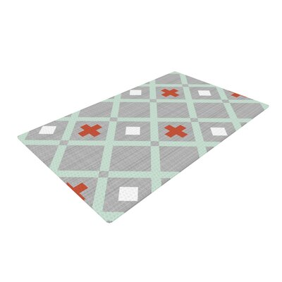 Pellerina Design Mint Lattice Weave Gray/Mint Area Rug Rug Size: 2 x 3