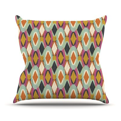 Sequoyah Ovals by Amanda Lane Throw Pillow Size: 16 H x 16 W x 1 D