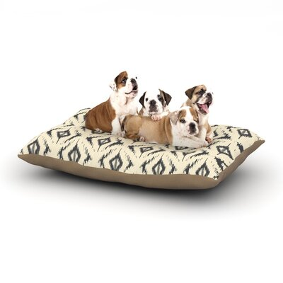Amanda Lane Moonrise Diaikat Dog Pillow with Fleece Cozy Top Size: Small (40 W x 30 D x 8 H)