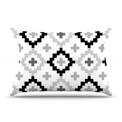 Black White Moroccan by Pellerina Design Featherweight Pillow Sham Size: King, Fabric: Woven Polyester