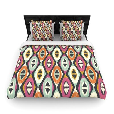 Sequoyah Diamonds Light by Amanda Lane Featherweight Duvet Cover Size: King, Fabric: Woven Polyester