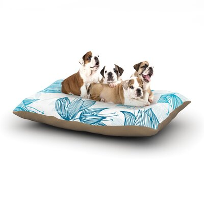 Anchobee Biru Dream Dog Pillow with Fleece Cozy Top Size: Small (40 W x 30 D x 8 H)