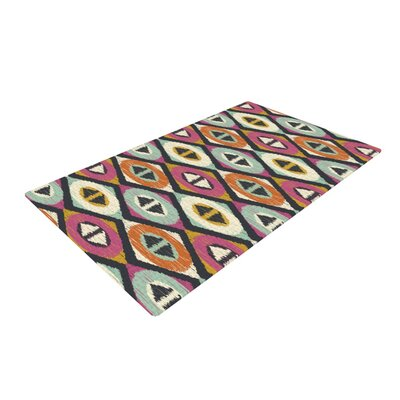 Amanda Lane Sequoyah Diamonds Pink/Black Area Rug Rug Size: 2 x 3