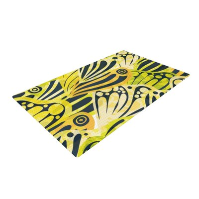 Anchobee Papalote Yellow/Black Area Rug Rug Size: 4 x 6