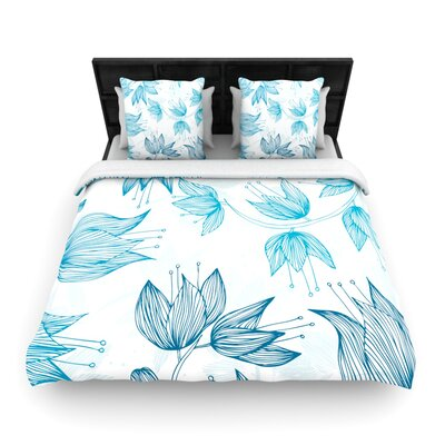 Biru Dream by Anchobee Featherweight Duvet Cover Size: Twin, Fabric: Cotton