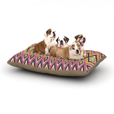 Amanda Lane Sequoyah Tribals Dog Pillow with Fleece Cozy Top Size: Small (40 W x 30 D x 8 H)