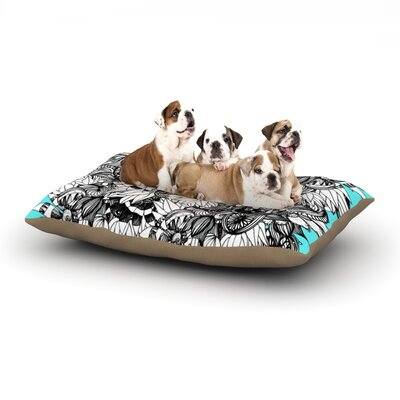 Anchobee Blumen Dog Pillow with Fleece Cozy Top Size: Large (50 W x 40 D x 8 H)