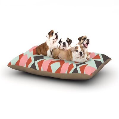 Pellerina Design Coral Mint Triangle Weave Dog Pillow with Fleece Cozy Top Size: Small (40 W x 30 D x 8 H)
