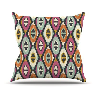 Sequoyah Diamonds by Amanda Lane Throw Pillow Size: 16 H x 16 W x 1 D