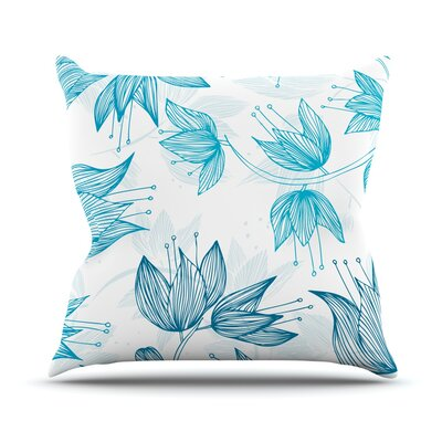 Biru Dream by Anchobee Throw Pillow Size: 26 H x 26 W x 1 D