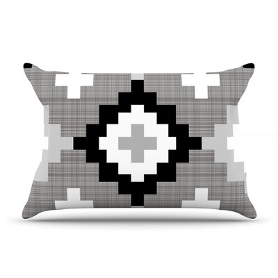 Pellerina Design Gold Mint Moroccan Diamonds Pillow Case Color: Gray