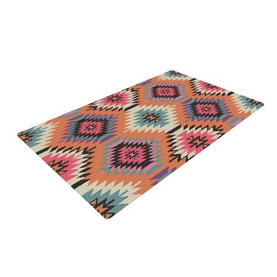 Amanda Lane Navajo Dreams Orange/Pink Area Rug