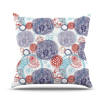 Lacy Ying Yang Throw Pillow Size: 18 H x 18 W x 1 D