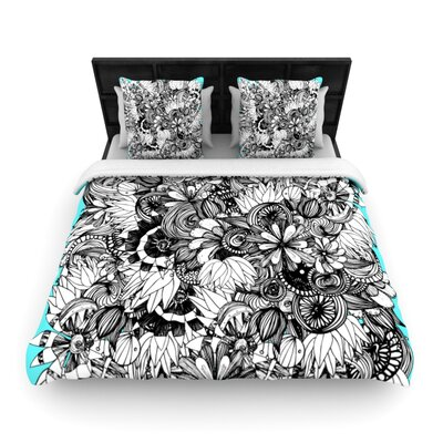 Blumen by Anchobee Featherweight Duvet Cover Size: King, Fabric: Woven Polyester
