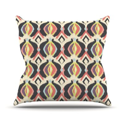 Bohemian iKat by Amanda Lane Throw Pillow Size: 18 H x 18 W x 1 D