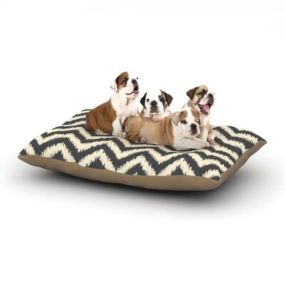 Amanda Lane Moonrise Chevron Ikat Dog Pillow with Fleece Cozy Top Size: Large (50 W x 40 D x 8 H)