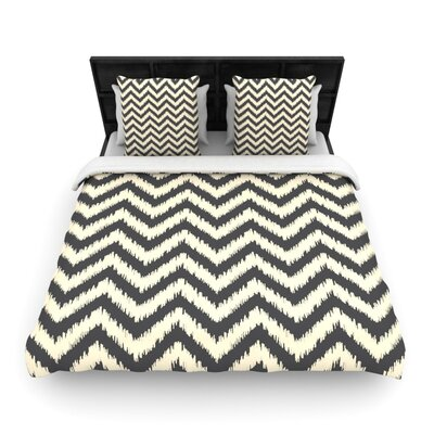 Moonrise Chevron ikat by Amanda Lane Featherweight Duvet Cover Size: Twin, Fabric: Lightweight Polyester
