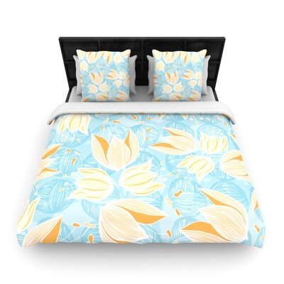 Giallo by Anchobee Featherweight Duvet Cover Size: Full/Queen, Fabric: Woven Polyester