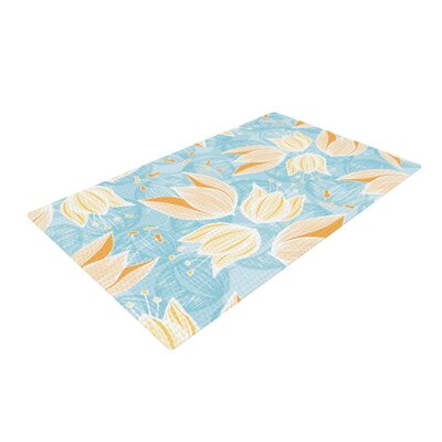 Anchobee Giallo Blue/Orange Area Rug Rug Size: 4 x 6