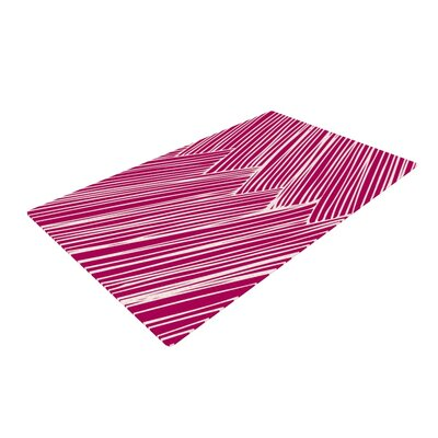 Anchobee Loom Pink/White Area Rug Rug Size: 2 x 3