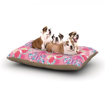 Anneline Sophia Baroque Butterflies Dog Pillow with Fleece Cozy Top Size: Large (50 W x 40 D x 8 H)
