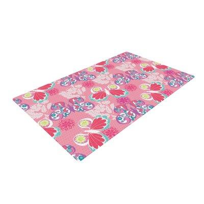 Anneline Sophia Baroque Butterflies Pink Area Rug Rug Size: 2 x 3