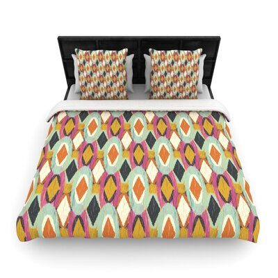 Sequoyah Ovals by Amanda Lane Featherweight Duvet Cover Size: Twin, Fabric: Woven Polyester