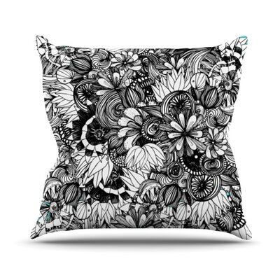 Blumen by Anchobee Throw Pillow Size: 16 H x 16 W x 1 D