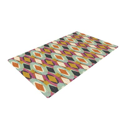 Amanda Lane Sequoyah Ovals Green/Pink/Black Area Rug