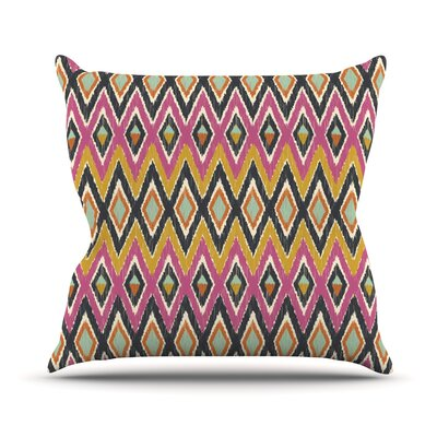 Sequoyah Tribals by Amanda Lane Throw Pillow Size: 16 H x 16 W x 1 D