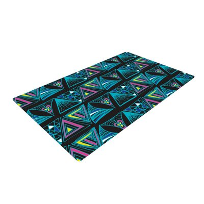 Anneline Sophia Its Complicated Black/Blue Area Rug Rug Size: 2 x 3