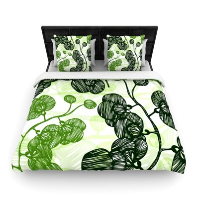 Hikae by Anchobee Featherweight Duvet Cover Size: King, Fabric: Woven Polyester