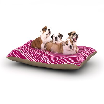 Anchobee Loom Dog Pillow with Fleece Cozy Top Size: Small (40 W x 30 D x 8 H)
