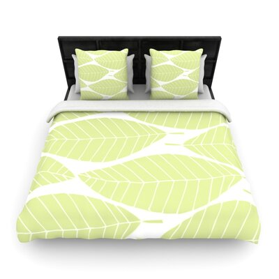 Hojitas by Anchobee Featherweight Duvet Cover Size: Full/Queen, Fabric: Woven Polyester