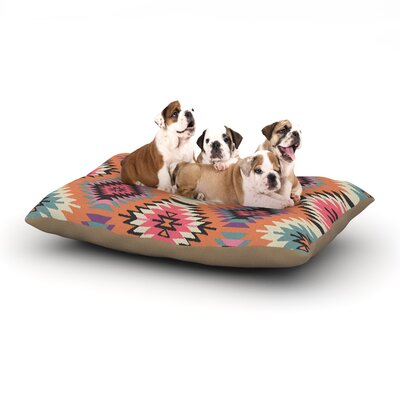 Amanda Lane Southwestern Dreams Dog Pillow with Fleece Cozy Top Size: Large (50 W x 40 D x 8 H)