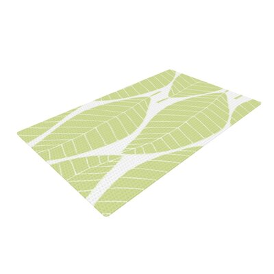 Anchobee Hojitas Cream/Green Area Rug Rug Size: 4 x 6