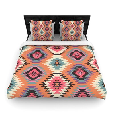 Navajo Dreams by Amanda Lane Featherweight Duvet Cover Size: Twin, Fabric: Woven Polyester